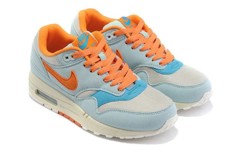 air max 1 blanche orange