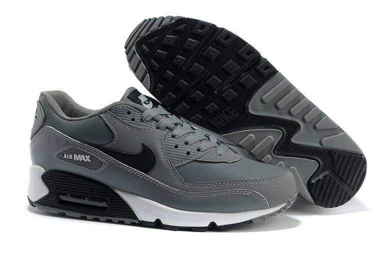 air max 90 cuir gris