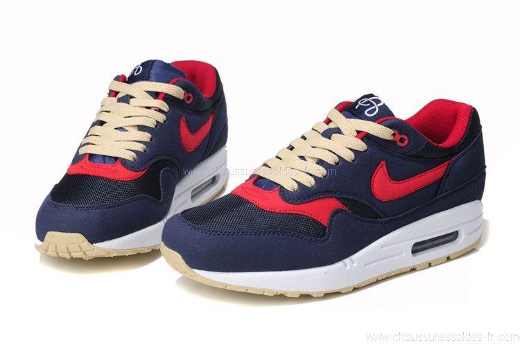air max 1 bleu rouge