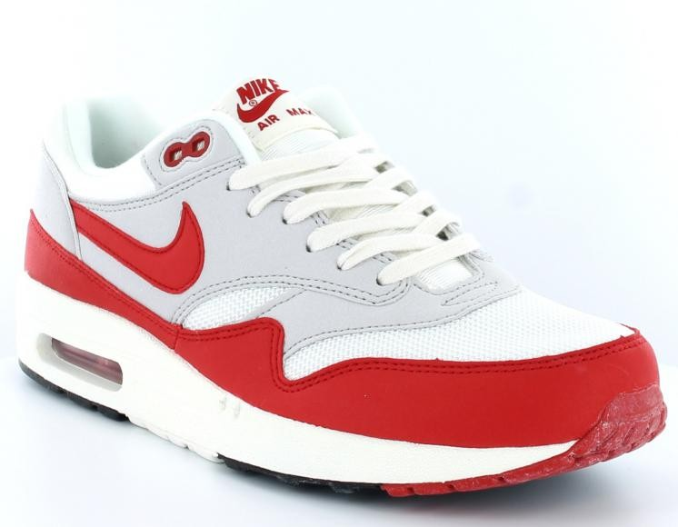 nike air max 1 rouge blanche