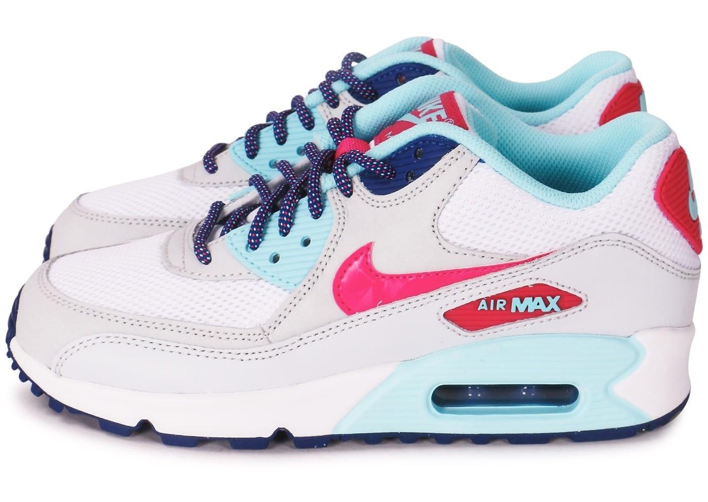 air max 90 bleu rose